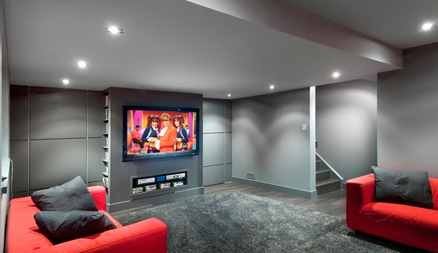basement to Cinema Room conversion cheshire